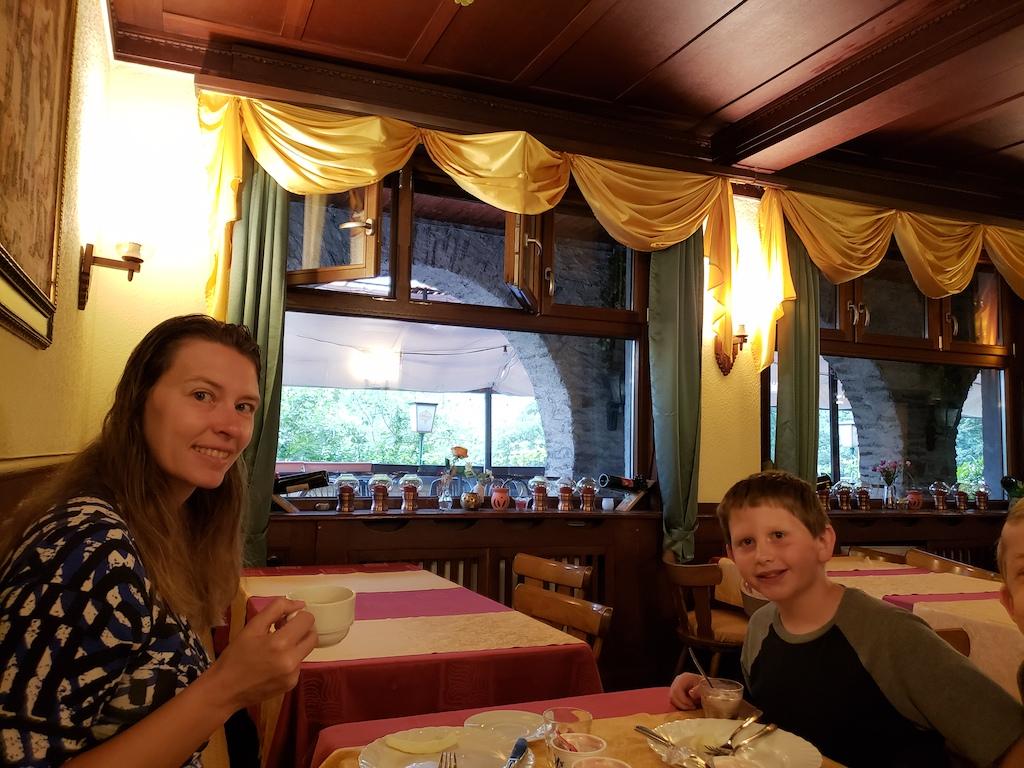 Breakfast in Bacharach, Germany