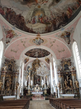 Cathedral in Oberammergau, Germany