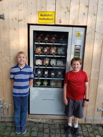 Sausage Vending Machine in Oberammergau, Germany